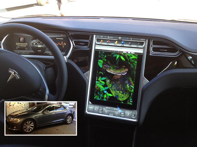 Tesla-in-dash